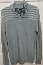 American Rag Pullover Quarter Zip Sweater Gray Wash NWT $39.50