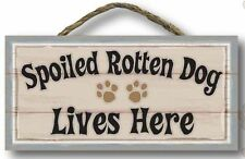 "Pet Wood Hanging Wall Signs Cat Dog Decor 5"" x 11"""