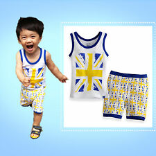 "NWT Vaenait Baby & Kid Boy Girl's Sleeveless  Cute Pyjama Set "" London Olympic """