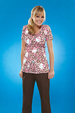 "Cherokee ""Hello Kitty Cheetah"" Scrubs Top 6751 HKKC"