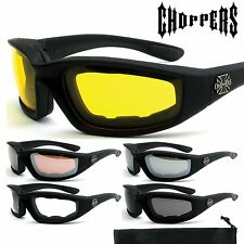 Choppers Wind Resistant Foam Sunglasses Extreme Sports Motorcycle Riding 901