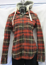 LADIES SUPERDRY HOODIES WITH REMOVABLE HOOD ,RED /MULTI  CHECK
