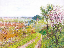 Road With Blossoming-Wores - - CANVAS OR PRINT WALL ART