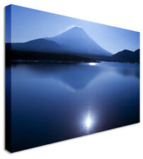 Blue Moonlight Mountains Canvas Pictures Wall Art Prints