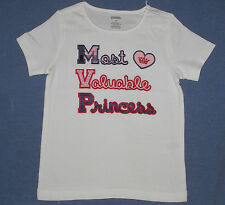 NWT ~ GYMBOREE tee MOST VALUABLE PRINCESS shirt 4 5 6 7 NEW Homecoming Kitty MVP