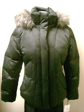 Calvin Klein Petite Down Jacket Coat with Faux Fur Trim Hood  NWT