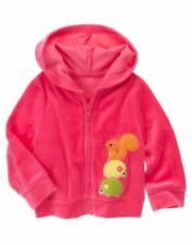 NWT GYMBOREE FALL FOR AUTUMN Jacket 3 6 12 24 m Pink Velour Hoodie Squirrel