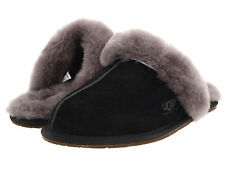 Women UGG Australia Scuffette Slipper 5661 Black Gray 100% Authentic  Brand New
