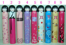HOT! Plastic Portable Folding Japanese Doll Sun Umbrella, Kokeshi Doll Umbrella