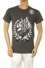 Men's Printed American Flying Eagle Graphic Design Cotton Grey T-shirt All Size