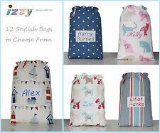 PERSONALISED GIFT SHABBY COUNTY POLKA DOT CHIC PUMP SCHOOL BALLET SHOES PE BAG