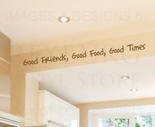 Wall Decal Quote Sticker Vinyl Art Large Good Friends Food Times Friendship FR17