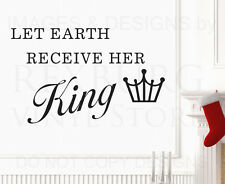 Wall Decal Art Vinyl Quote Sticker Let Earth Receive Her King Christmas C21