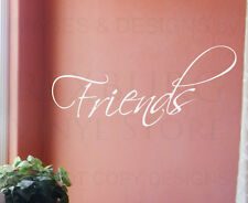 Wall Decal Sticker Quote Vinyl Art Lettering Removable Friends Friendship FR15