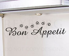 Wall Decal Sticker Quote Vinyl Art Mural Letter Bon Appetit French Kitchen KI29