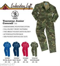 CHILDRENS OVERALLS,COVERALLS,BOILERSUIT unpersonalised 4 colours 7 sizes