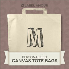 PERSONALISED Favour Party Gift Canvas Tote Bag | Bold Initial