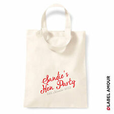PERSONALISED Name Date Favour Hen Do Party Gift Canvas Tote Bag | 3 sizes