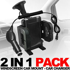 WINDSCREEN CAR MOUNT HOLDER,CAR CHARGER  FOR VARIOUS SAMSUNG MOBILE PHONES