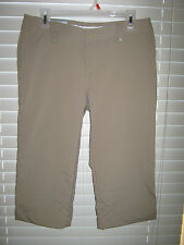 NWT Women's Under Armour Light Brown Capri All Season Gear Golf Pants Sz 8 & 14