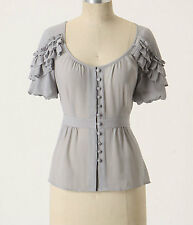 New Anthropologie Tidal Ruffles Blouse Size 2-12