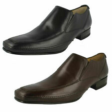 Mens Black/Brown/Dark Brown Leather Slip On Loake Shoes  Matthews