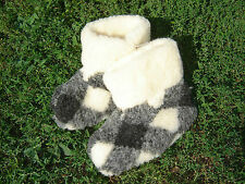 SLIPPERS BOOTS for WOMEN. 100% Natural SHEEP WOOL