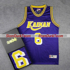 SLAM DUNK Cosplay Costume Kainan School Basketball #6 Jin Replica Jersey PURPLE