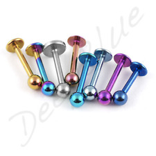 TITANIUM Labret 1.2mm - AVAILABLE IN   6mm  8mm LENGTHS  Lip Tragus Bar Stud