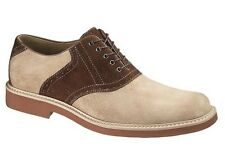 Men's Hush Puppies Authentic Saddle Shoe Taupe / Brown
