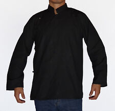 TRADITIONAL TIBETAN SHIRT FOR MEN OR WOMEN COTTON BLACK