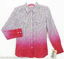 MSRP $28.00  Girl's XS(7/8), M(10/12), L(14)   New Mudd Pink Bloom Floral Shirt