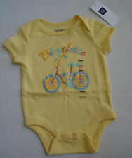 BABY GAP GIRLS YELLOW BICYCLETTE ONE Piece up to 3 Mos, 3-6 Mos,6-12 Mos NWT