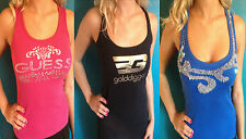 LADIES TOP VEST GUESS GOLDIGGA ABANDON MISS SELFRIDGE MISO 6 8 10  S XS TOPS MIX