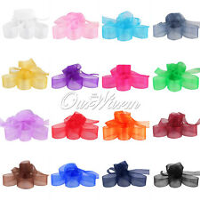 "50YD  5/8"" 15mm Width Organza Sheer Ribbon Craft Bow Wedding Supply Decoration"