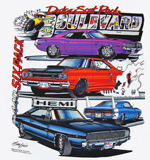 69 Dodge 6 Pack Super Bee, 68 Hemi Charger, 70 71 Challenger R/T T-shirt