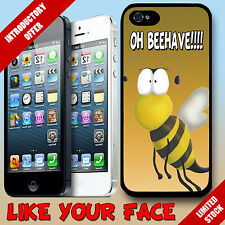 New Funny cute cartoon Bee saying animal phone case cover for Iphone 5
