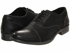 Men's Hush Puppies Buck Black Leather Oxford H102968