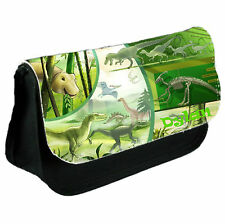 Personalised Dinosaur School College Bag & Pencil Case Set Ideal Xmas Gift Boys
