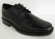 Mens Clarks Black Leather Lace up shoe Ample Act G fitting