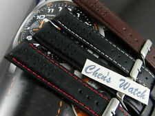 HQ ITALY GOAT LEATHER RACING GT RALLY DOTTED WATCH BAND STRAP FOR SEIKO