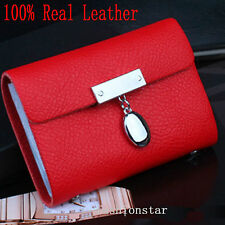 Leather Women Card Holder ID Case Lady Wallet Purse Business 26 Slots 10 Colour