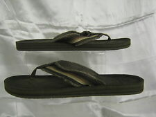 Mens Sketchers Dk Khaki 63015/Brn Maris BRISINO toe post sandals