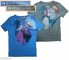 NWT Hugo Boss Orange Label By Hugo Boss LOGO Tee T-Shirt with Printed Design