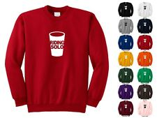 Riding Solo Plastic Solo Cup All Alone Lonely Loner Funny Crewneck Sweatshirt