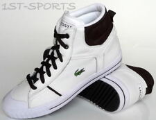 LACOSTE MENS TRAINERS, SHOES EMIN SPM LTH/NBK HI UK 9 to 10.5 WHITE