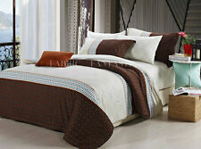 OGDEN Queen/King Size Bed Quilt/Doona/Duvet Cover Set New 100% Cotton