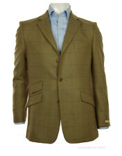 Magee Men's Three Button Tweed Jacket - Green and Blue