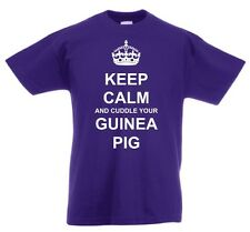 KEEP CALM AND CUDDLE YOUR GUINEA PIG KID'S T-SHIRT NEW