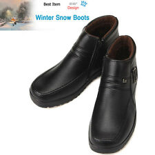 Winter Snow Ankle Boots Black zip up